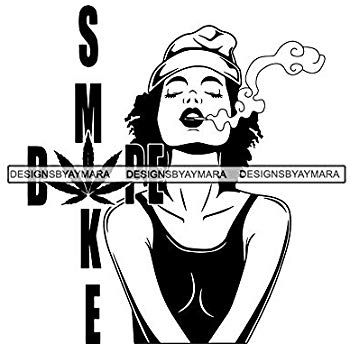 Amazon.com: Mildred Rob Woman Smoking Bong Blunt Weed.