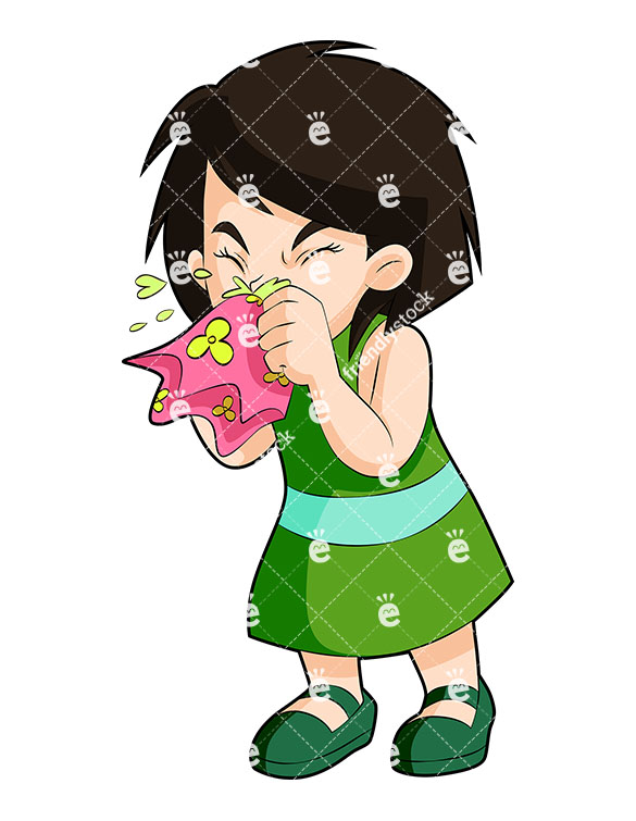 81 Sneezing free clipart.