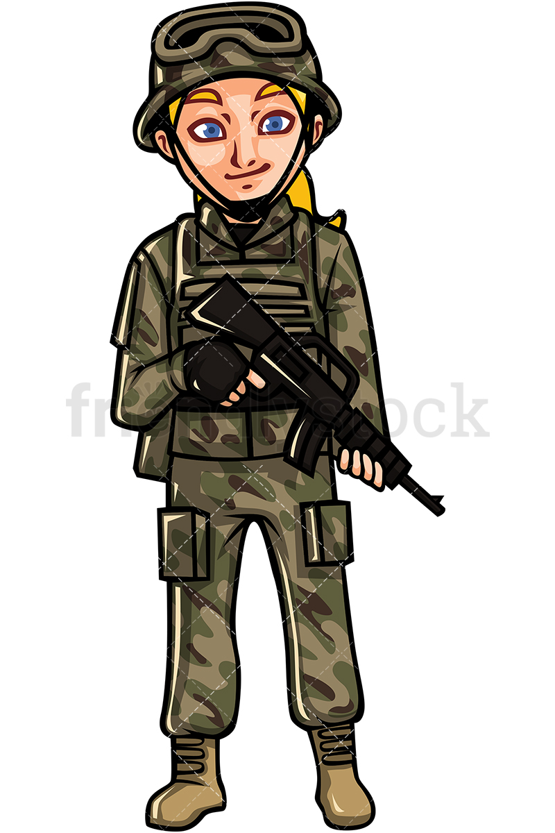 US Army Female Soldier.