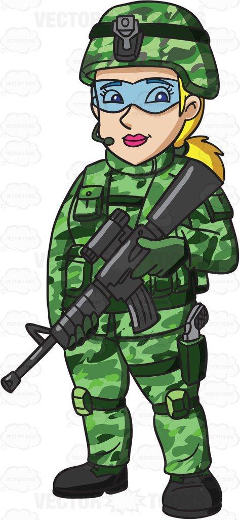 Woman soldier clipart » Clipart Portal.