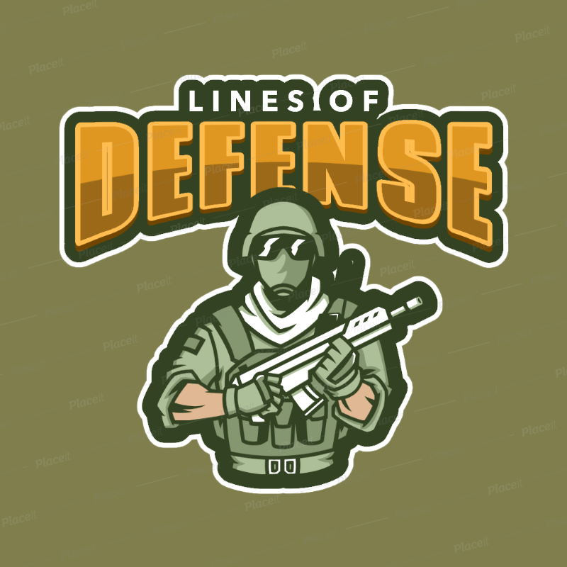 Shooting Game Logo Maker with a Soldier Clipart 1869b.