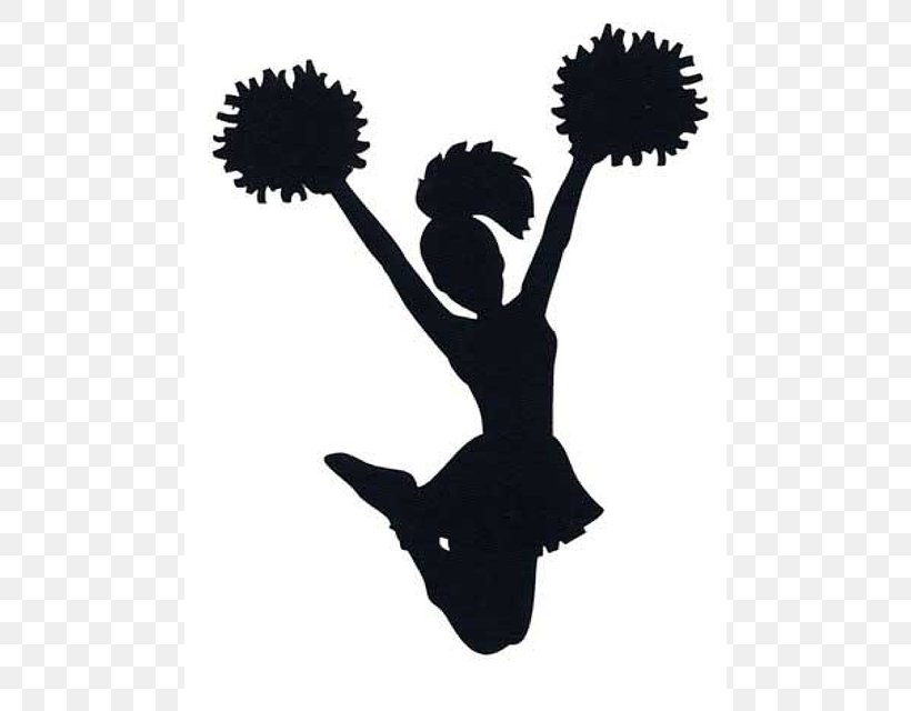 Cheerleading Silhouette Sport Clip Art, PNG, 488x640px.