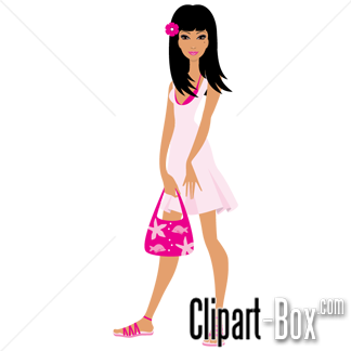 Cute Woman Clipart.