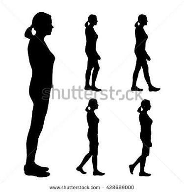 Image result for silhouette of girl standing sideways in.