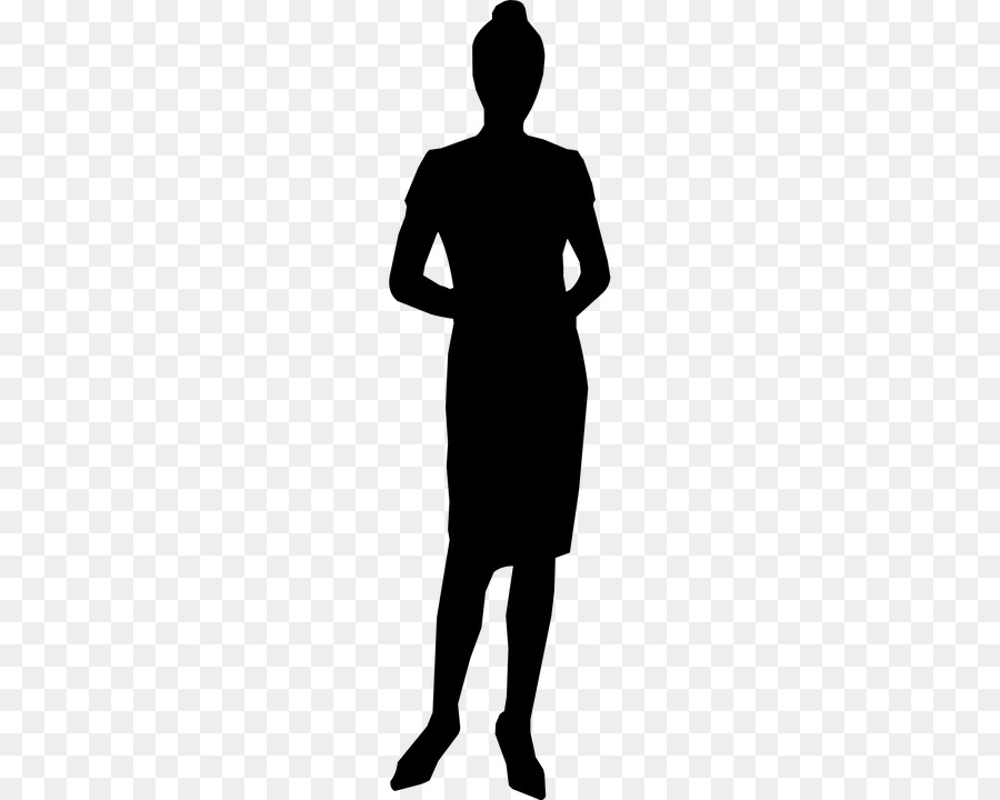 Free Female Silhouette Standing Profile, Download Free Clip.