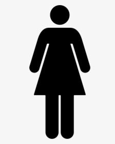 Woman Standing Silhouette Black Shape.