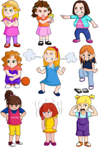 Girl Sticking Tongue Out Clipart.
