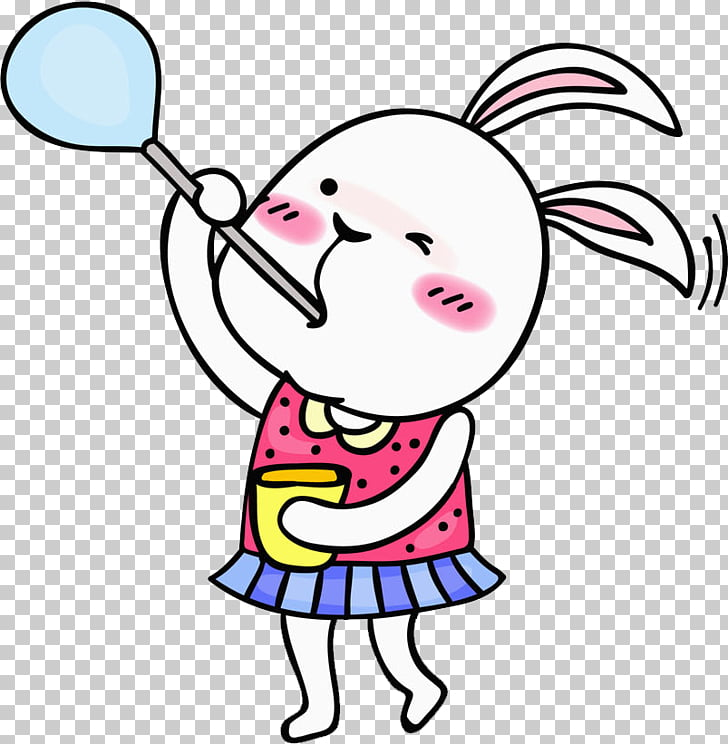 Illustration, Bubble Bunny PNG clipart.
