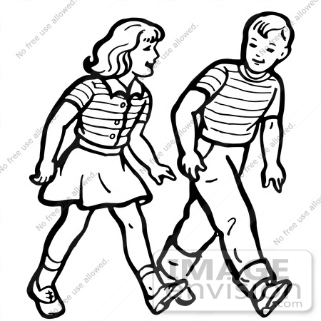 Woman Walking Side By Side Friendship Clipart.