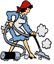 Woman sweeping clipart png.