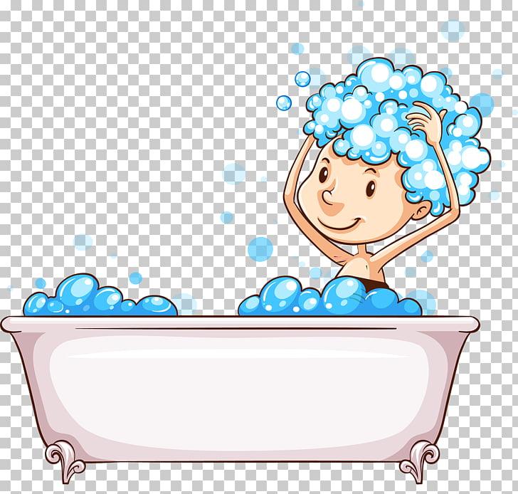 Bathing Bubble bath Stock photography Illustration, Lovely.