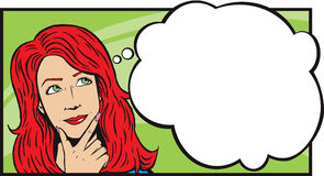 Lady Thinking Clipart.