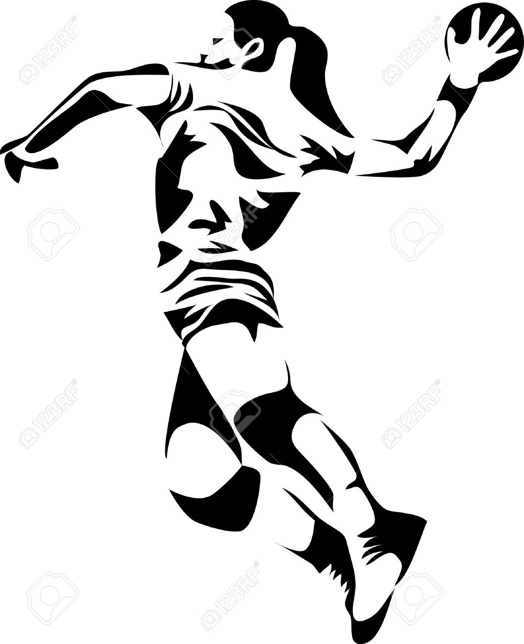 Handball Ball Clipart.