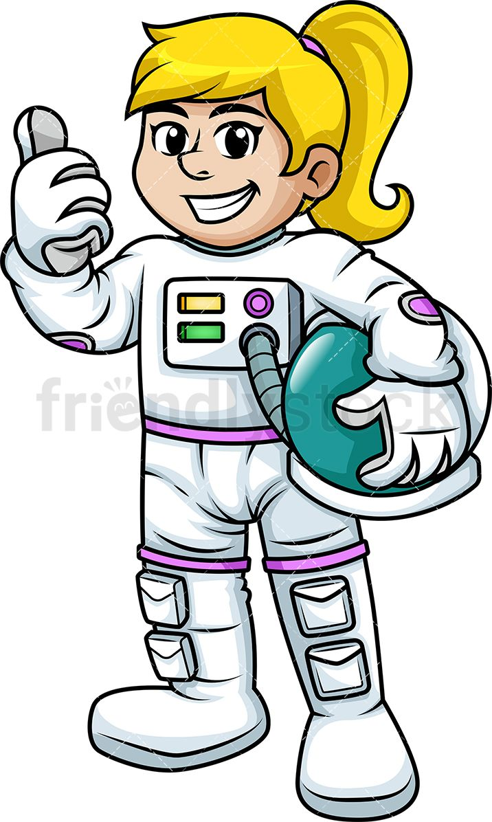 Female Astronaut Giving The Thumbs Up.