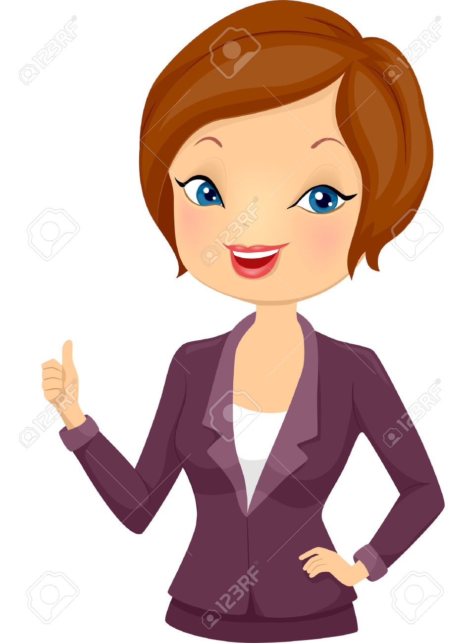 Girl Thumbs Up Clipart.