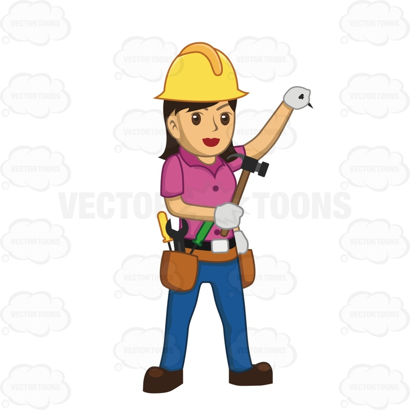 Girl Construction Worker Clipart.