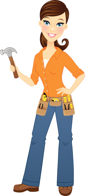 Carpenter clipart lady, Carpenter lady Transparent FREE for.