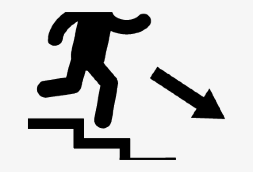 Stairs Clipart Walking Down PNG Image.