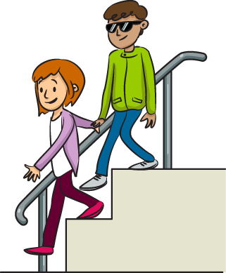 Going Down Stairs Clipart.