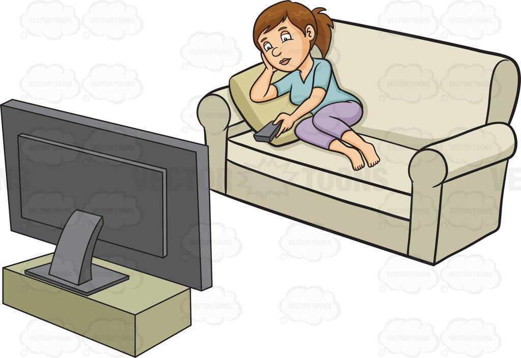 Woman watching tv clipart 2 » Clipart Portal.