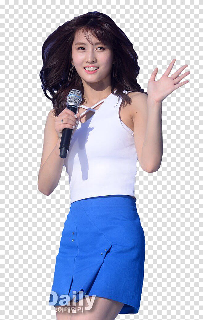 RENDER TWICE MOMO S, woman waving her left hand transparent.