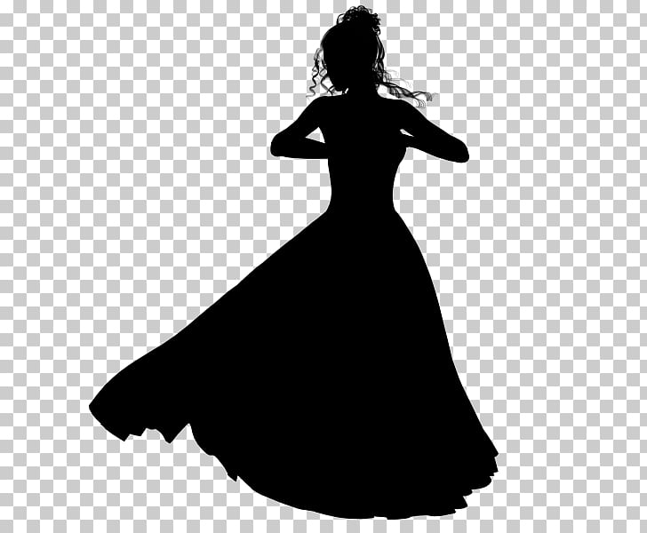 Silhouette , women dress, woman wearing dress illustration.