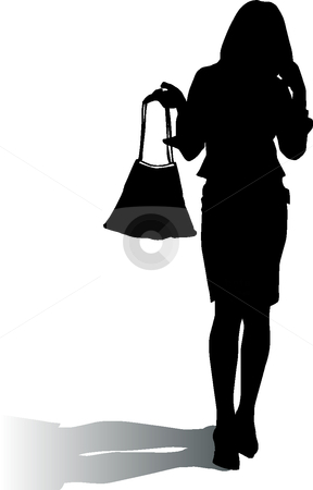 Woman With Purse Clipart Free.