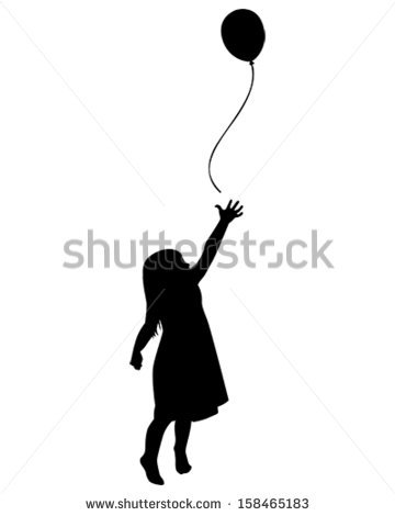 PhotoSpin's Royalty Free Stock Photograph of Silhouette Girl Child.