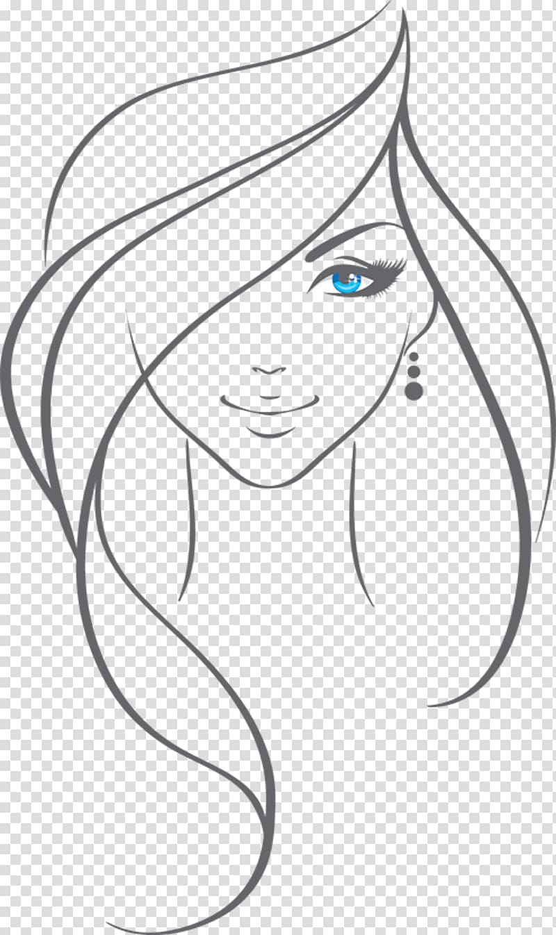Woman Drawing , beauty girl transparent background PNG.