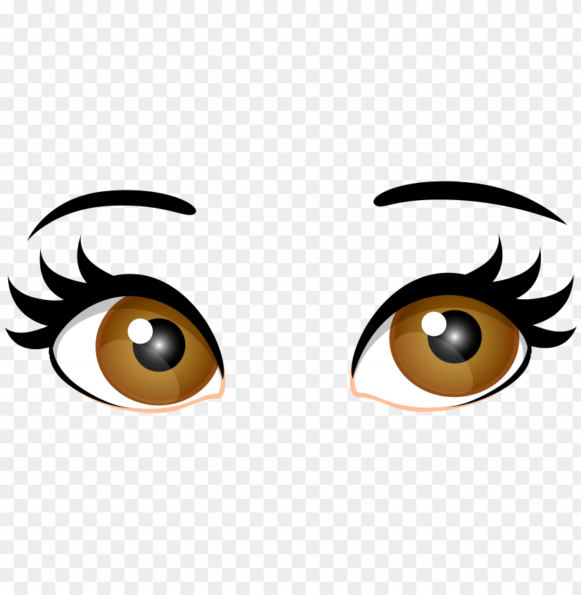 Download brown female eyes clipart png photo.