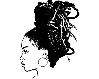 Lady With Locs Silhouette.