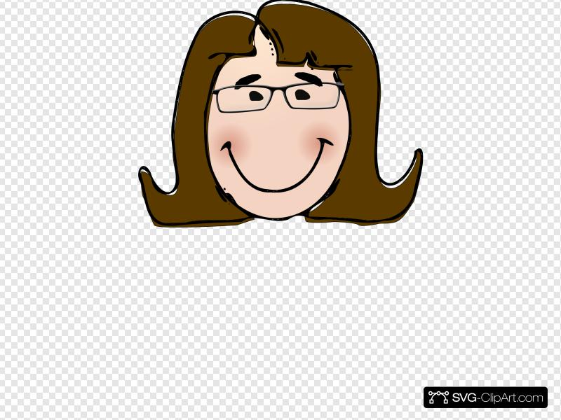 Woman With Glasses Clip art, Icon and SVG.