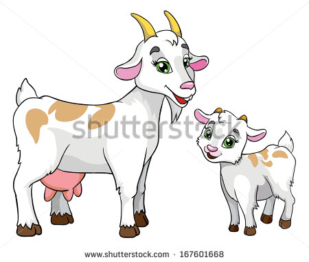 Goat Cartoon Stock Images, Royalty.
