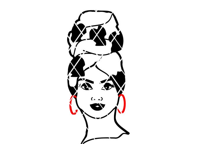 Della Headwrap svg,Afro woman svg, Black Girl Magic svg.