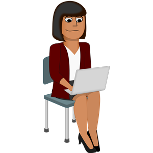Young Woman with Laptop clipart, cliparts of Young Woman.