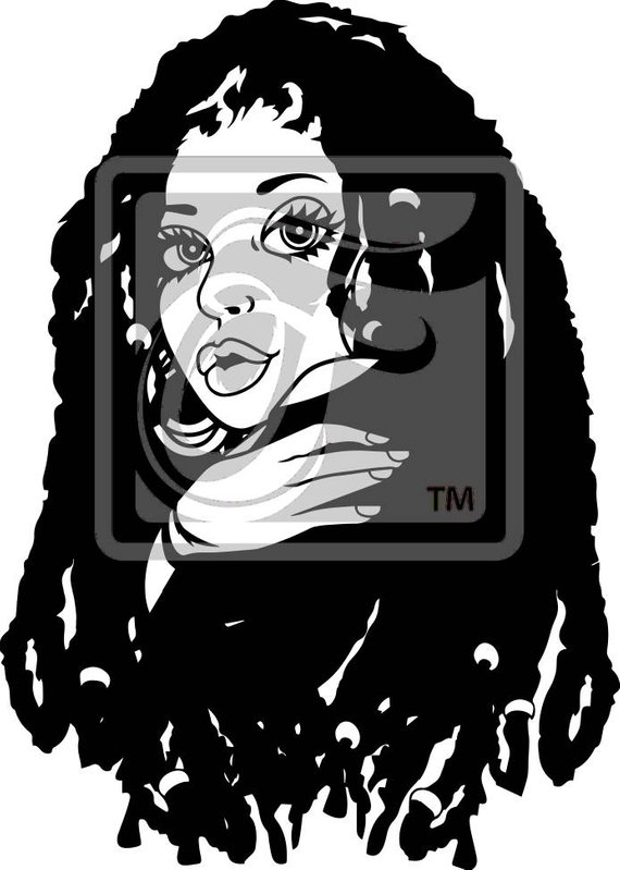 Focsi Woman with Locs SVG in 2019.