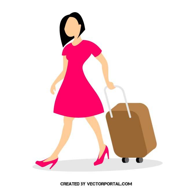 WOMAN WITH LUGGAGE.