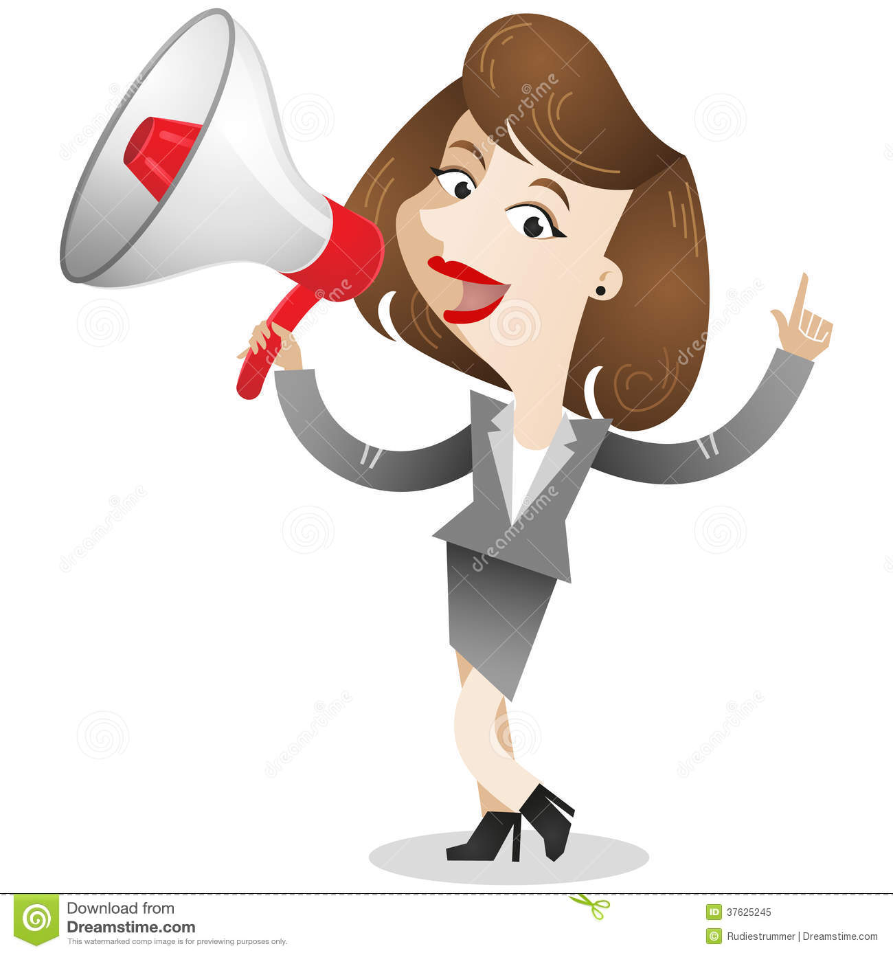 Person With Megaphone Clipart.