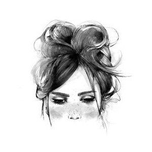Woman With Messy Bun Clipart.