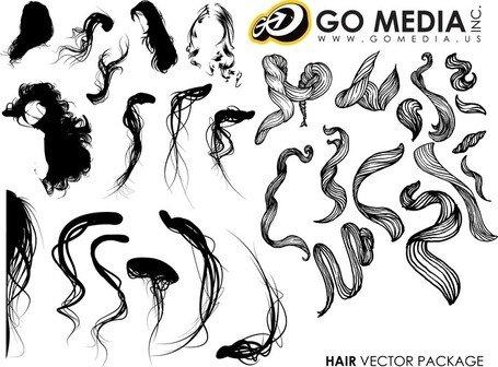 Hair Clip Art, Vector Hair.