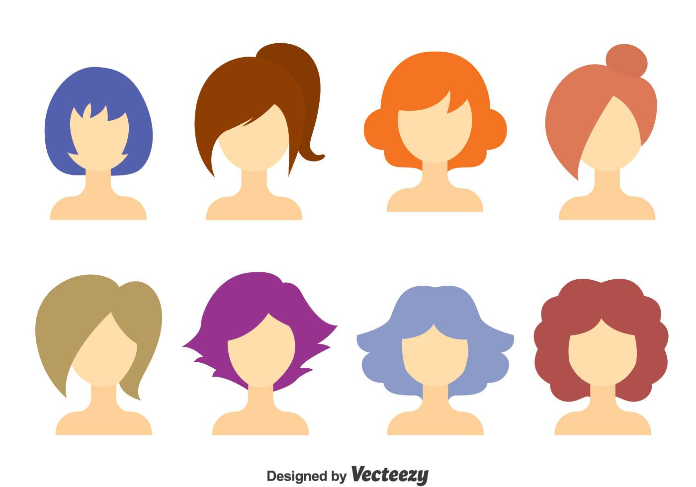 Hair Free Vector Art.