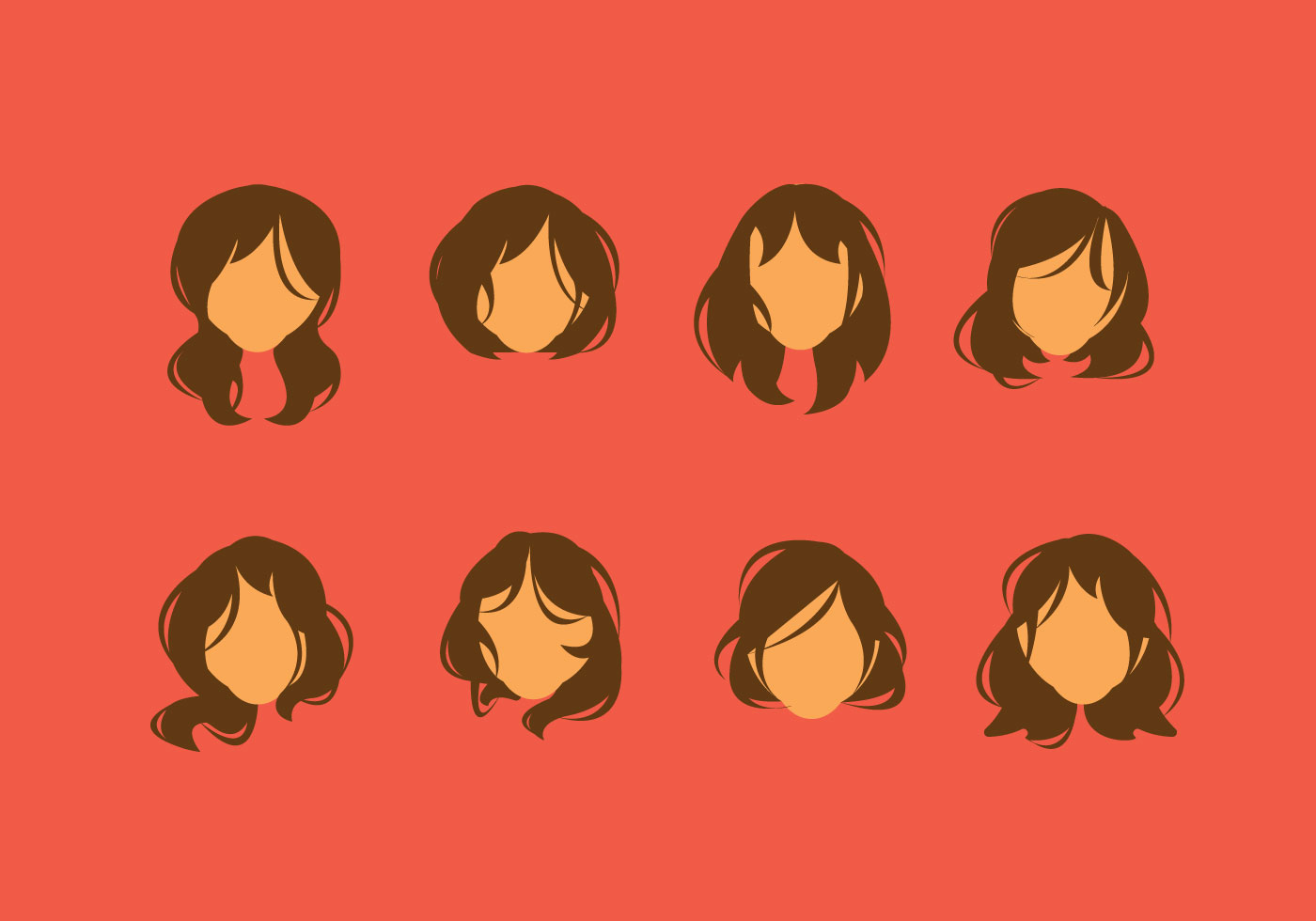 Woman With Messy Hair Vector Clipart Clipground