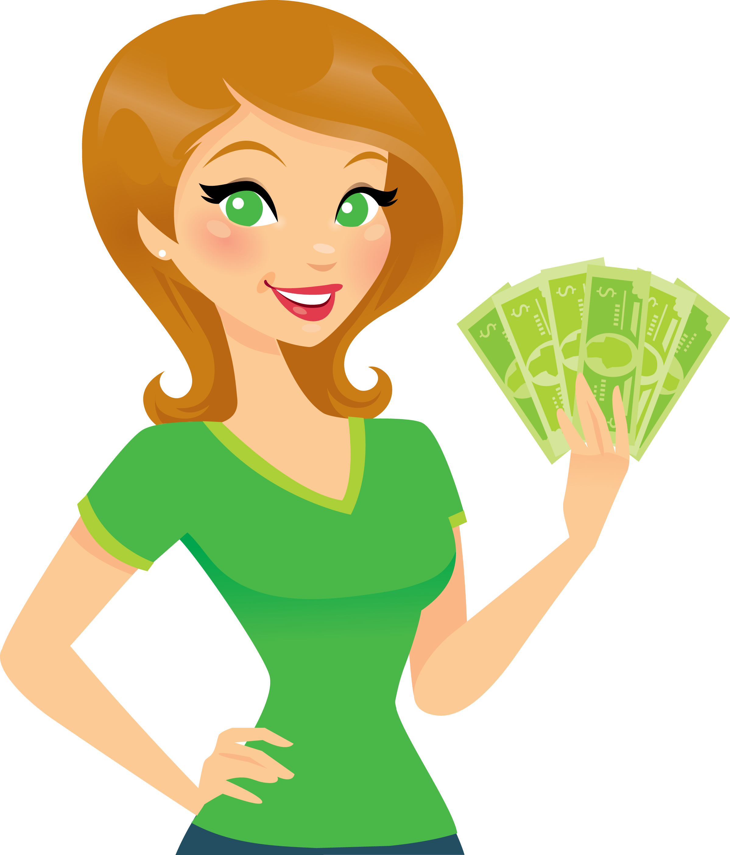 Women And Money Clipart.