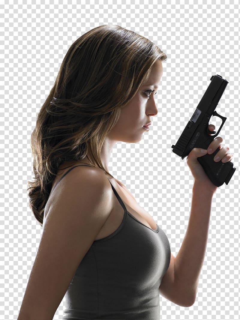 Firearm Woman Weapon Semi.