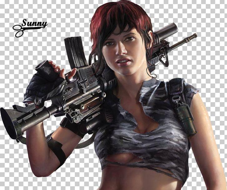 Girls With Guns Firearm Rendering Desktop PNG, Clipart, 3d.