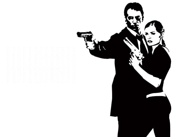 HD wallpaper: man and woman holding guns clipart, max payne.