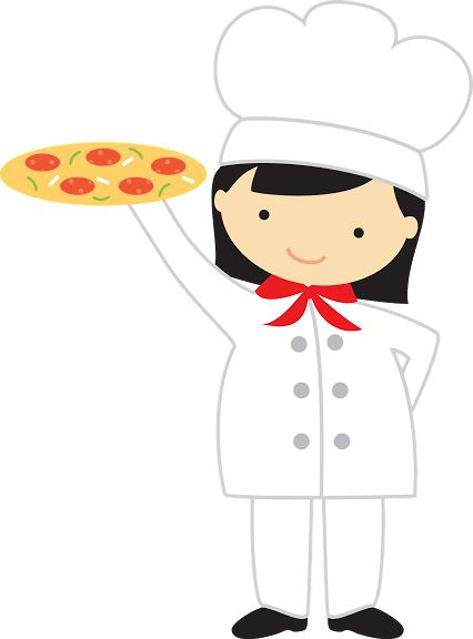 Woman pizza maker.