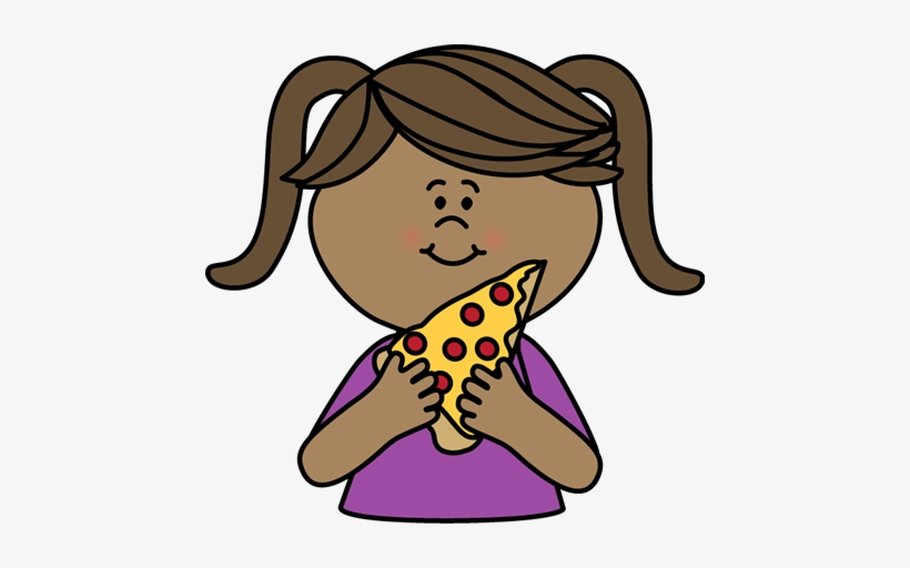 Girl Eating Pizza.