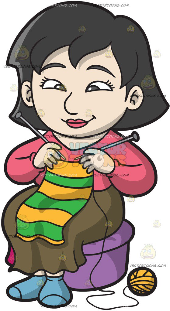 yearn scarf knitting clipart #10
