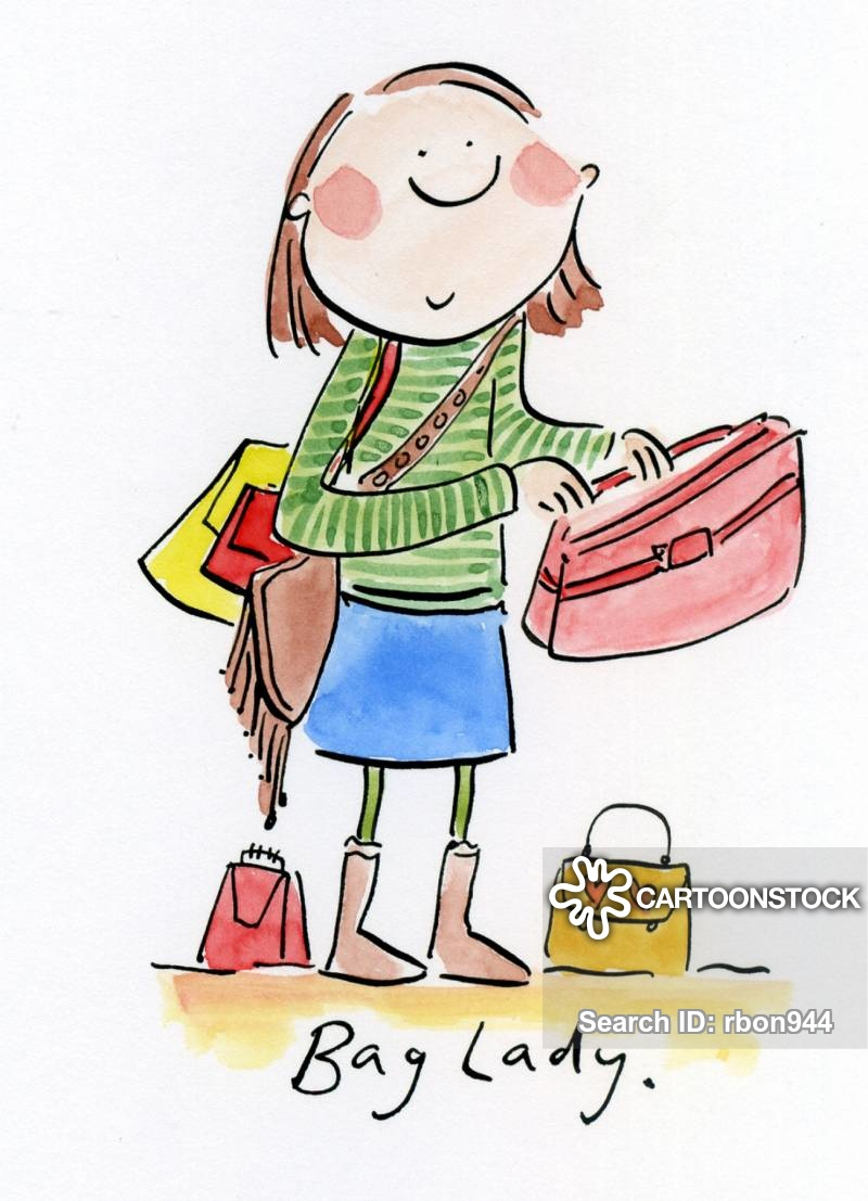 Bag Lady Cartoons and Comics.